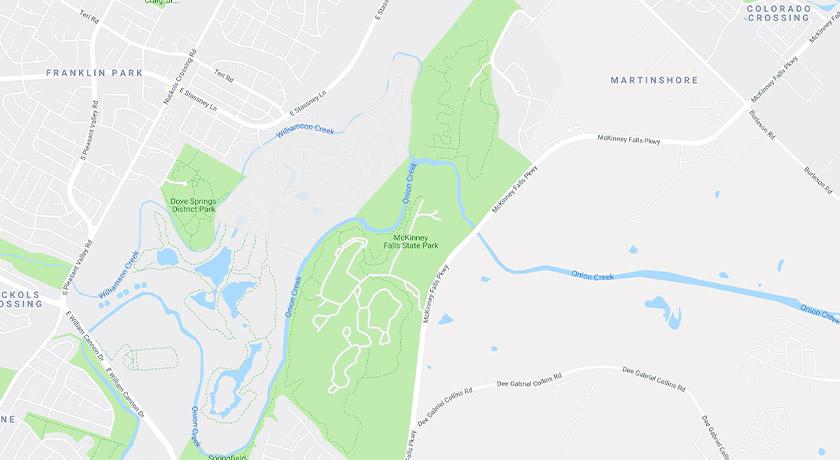 mckinney-falls-google-map